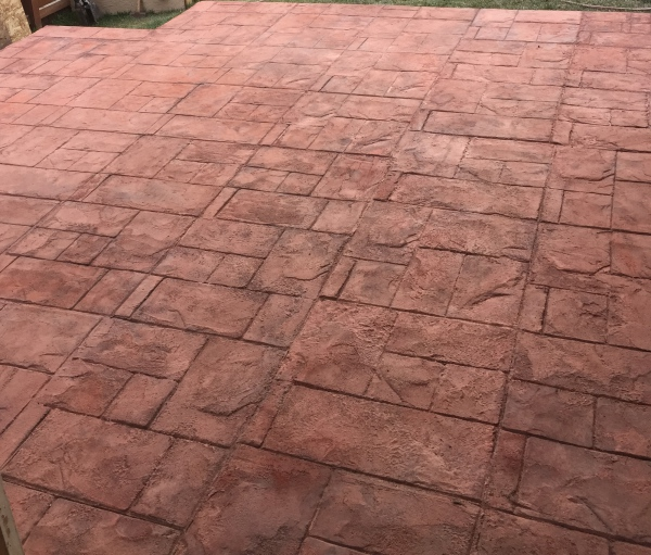 Patio Life - Stamped Concrete After